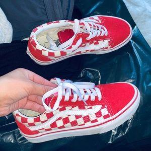 Checkerboard Red Vans